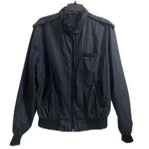 Members Only Men's Black Cafe Racer Jacket Size 42